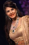 Jacqueline Fernandez walks the ramp at PC Jewellers show