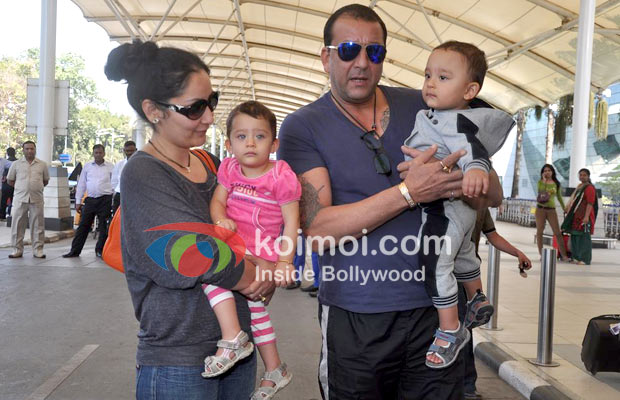 Manyata Dutt Sanjay Leave For Rohit Dhawan S Wedding In Goa