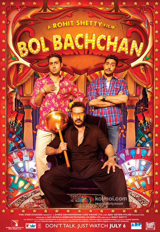 Ajay Devgan and Abhishek Bachchan In Bol Bachchan Movie Poster