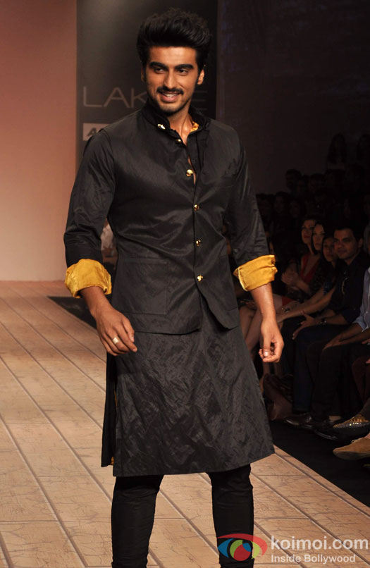 Arjun Kapoor walks the ramp at Lakme Fashion Week Summer/Resort 2013 Day 2
