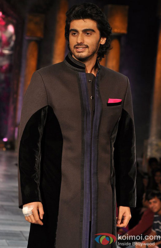 Arjun Kapoor walks the ramp at 'Mijwan Sonnets in Fabric' fashion show