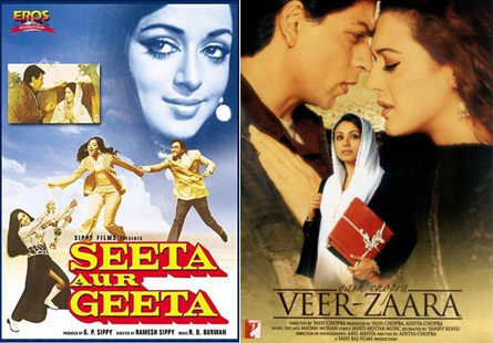 Seeta Aur Geet Movie Poster, Veer-Zaara Movie Poster