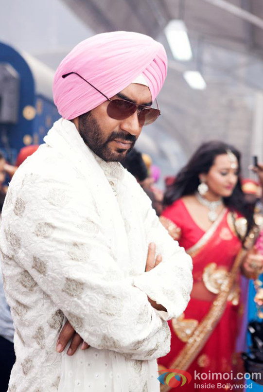 Ajay Devgan plays the sweet yet angry young sardaar in Son Of Sardar (Son Of Sardaar) Movie Stills