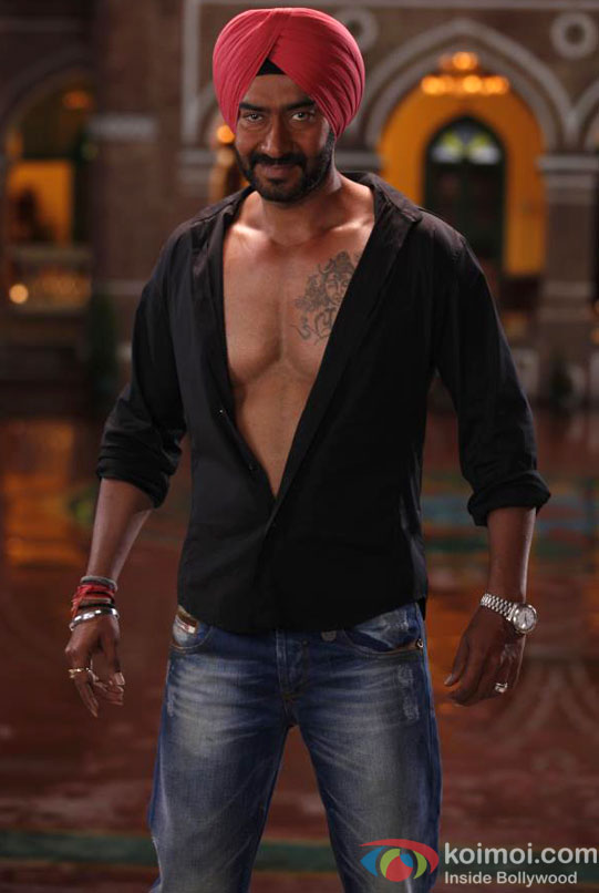 Ajay Devgn flaunts his chest in Son Of Sardaar (Son Of Sardar) Movie Stills