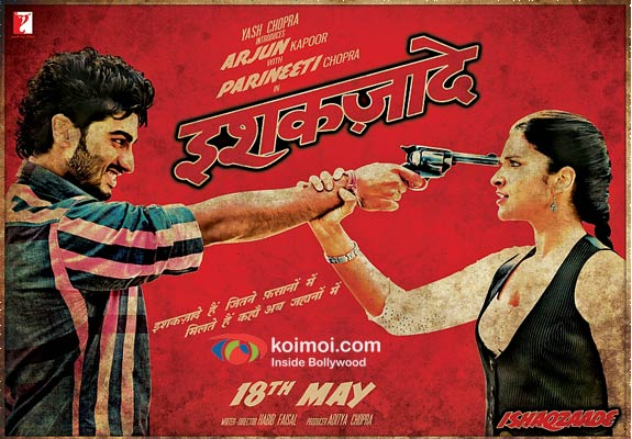 Arjun Kapoor and Parineeti Chopra Ishaqzaade Movie Poaster