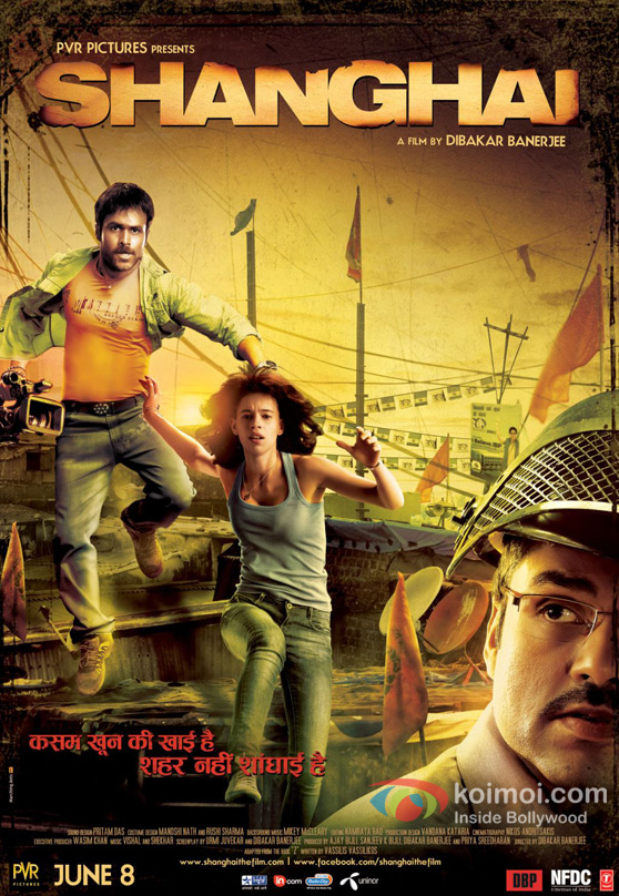 Emraan Hashmi, Kalki Koechlin and Abhay Deol in New Shanghai Movie Poster