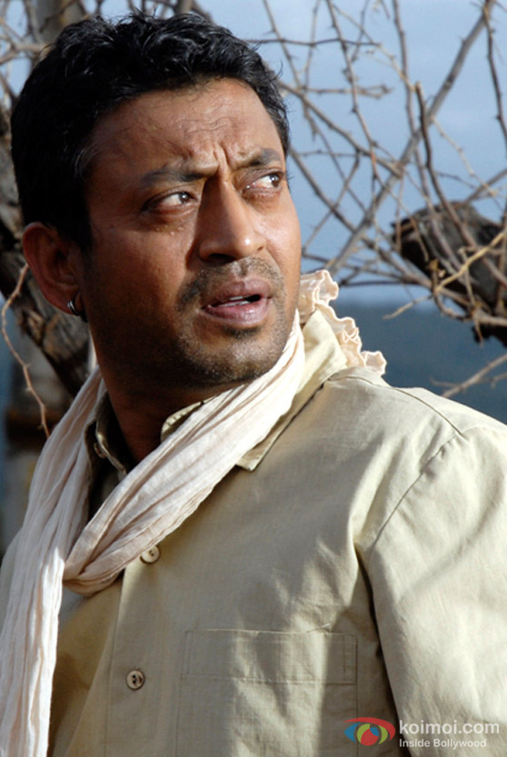Irrfan Khan as a villager in Billu Movie