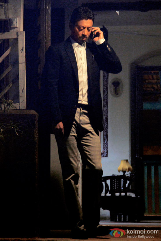 Irrfan Khan Talks On The Phone In A Scene From Yeh Saali Zindagi Movie