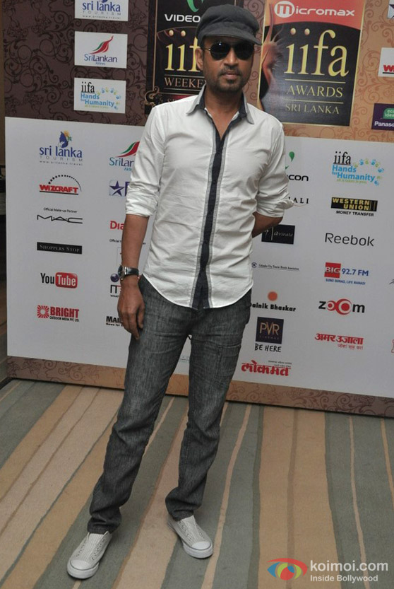 Irrfan Khan At IIFA Cricket And Fashion Media Meet Event