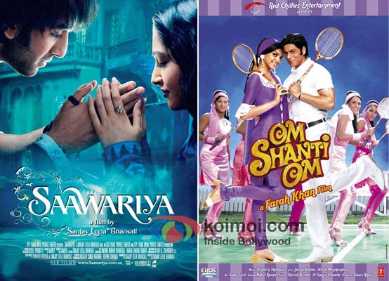 Saawariya and Om Shanti Om Movie Poster