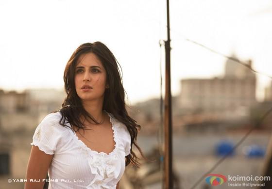 A rather tensed Katrina Kaif in Ek Tha Tiger Movie Stills