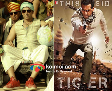 Akshay Kumar in Joker and Salman Khan in Ek Tha Tiger