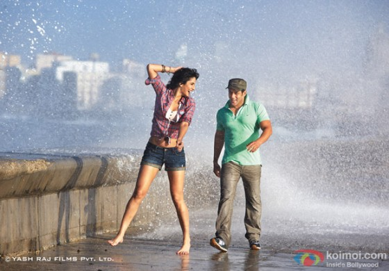 Katrina Kaif and Salman Khan in a song sequence in Ek Tha Tiger Movie Stills