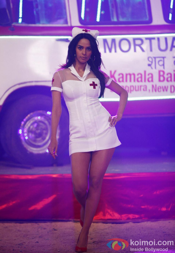 Mallika Sherawat dressed as a sexy nurse in Kismet (Kismat) Love Paisa Dilli Movie Stills