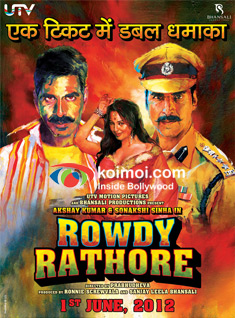 Akshay Kumar In Rowdy Rathore Movie Poster