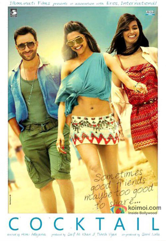 Saif Ali Khan, Deepika Padukone and Diana Penty in Cocktail Movie Poster