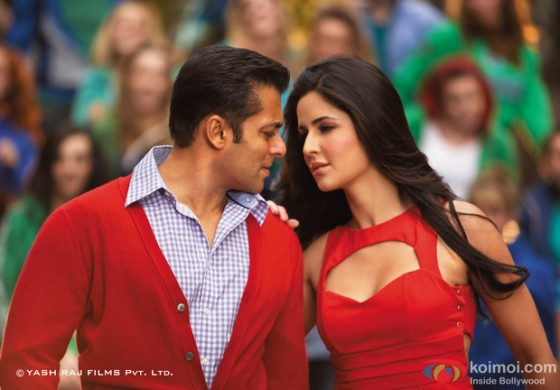 Salman Khan and Katrina Kaif in red hot dress yet another song sequence in Ek Tha Tiger Movie Stills
