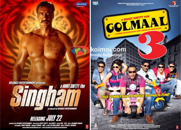 Singham, Golmaal 3 Movie Poster