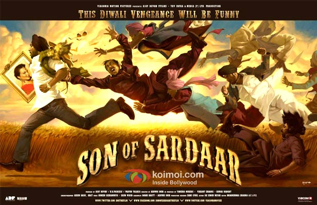 Ajay Devgan and Sonakshi Sinha Son Of Sardaar Movie First Look Poster