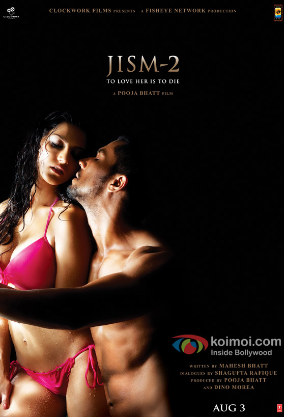 Hot Sunny Leone and Randeep Hooda in Jism Movie Poster