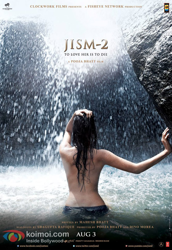 Sunny Leone Topless Sensational and  Hot in Jism 2 Movie Poster