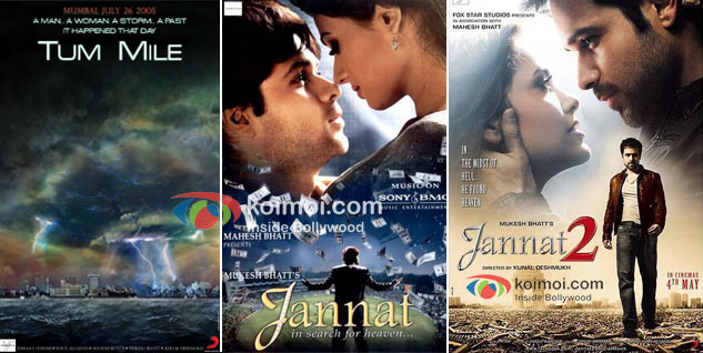 Tum Mile, Jannat & Jannat 2 Movie Posters