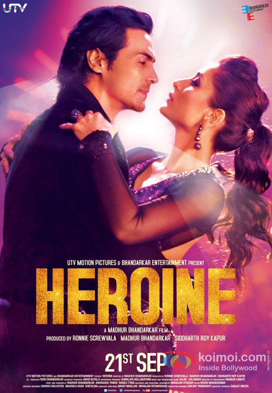Arjun Rampal And Kareena Kapoor in Heroine Movie Poster