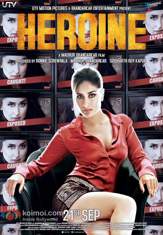 Kareena Kapoor Sizzling in Heroine Movie Poster