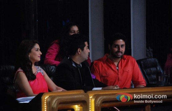 Madhuri Dixit, Karan Johar, Abhishek Bachchan on the Sets of Jhalak Dikhla Ja Season 5