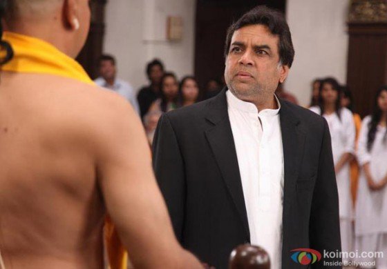 Paresh Rawal against the devotees in OMG Oh My God Movie Stills