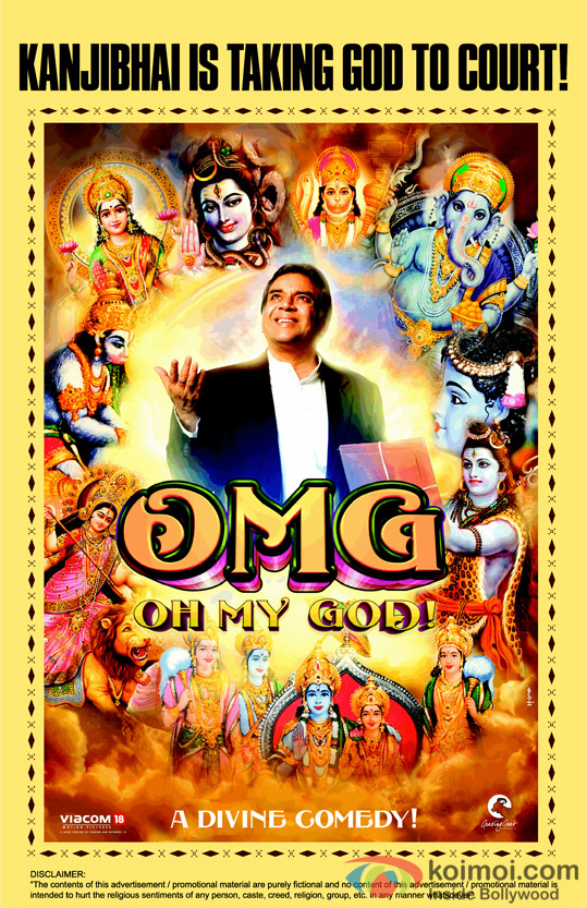 Paresh Rawal in OMG Oh My God! Movie Poster