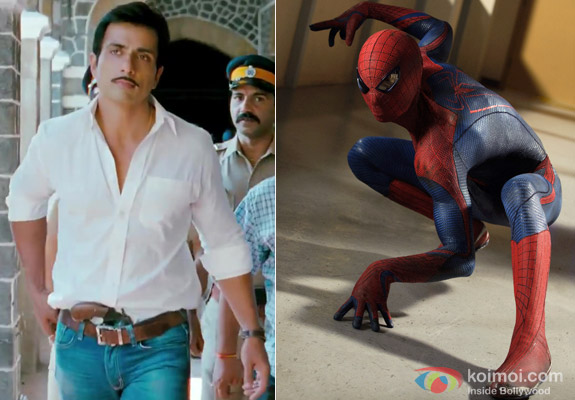 Sonu Sood in Maximum Movie and Andrew Garfield in The Amazing Spiderman Movie