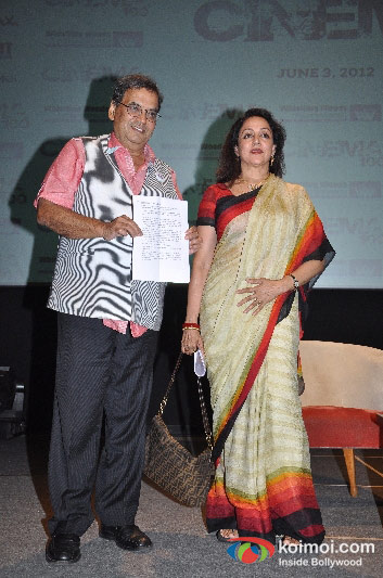 Subhash Ghai, Hema Malini At Whistling Woods