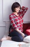 A check print shirt looks hot on Preity Zinta