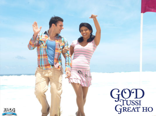 Sohail Khan and Priyanka Chopra at Aksa Beach in God Tussi Great Ho