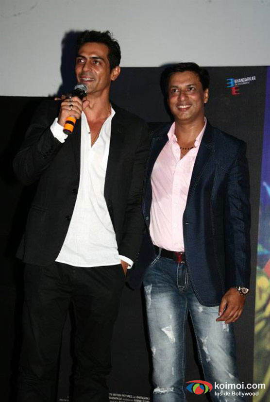 Arjun Rampal, Madhur Bhandarkar At Heroine Movie Trailer Launch