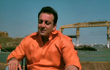 Sanjay Dutt shooting for Lage Raho Munna Bhai at Bandra