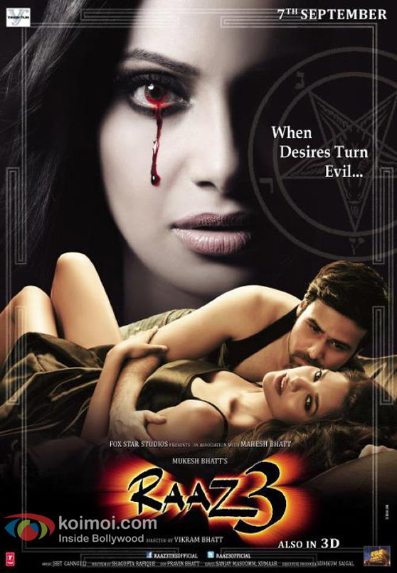 Bipasha Basu, Emraan Hashmi and Esha Gupta in Raaz 3 Movie Poster