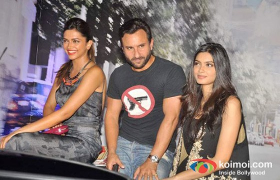 Deepika Padukone, Saif Ali Khan, Diana Penty at the Mini Cocktail Party