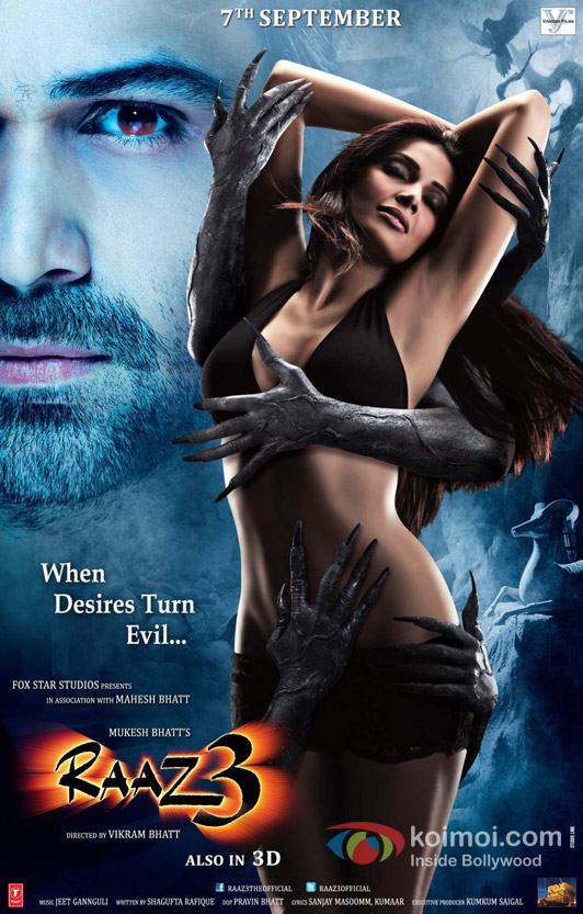 Emraan Hashmi and Bipasha Basu in Raaz 3 Movie Poster