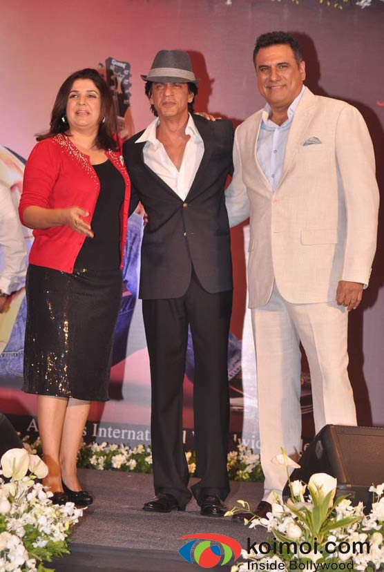Farah Khan, Shah Rukh Khan, Boman Irani At Shirin Farhad Ki Toh Nikal Padi Movie Music Launch