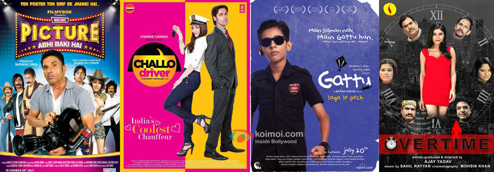 Mere Dost Picture Abhi Baki Hai, Challo Driver, Gattu and Overtime Movie Posters