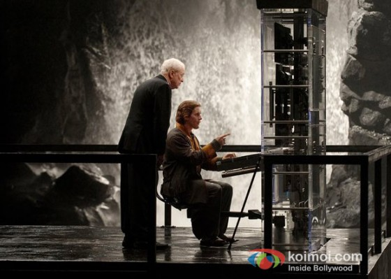 Michael Caine and Christian Bale In The Dark Knight Rises Movie Stills