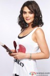 Preity Zinta poses for the shutterbugs