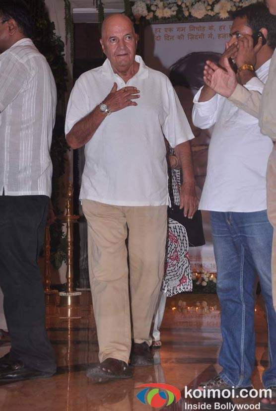 Prem Chopra At Rajesh Khanna's Prayer Meet