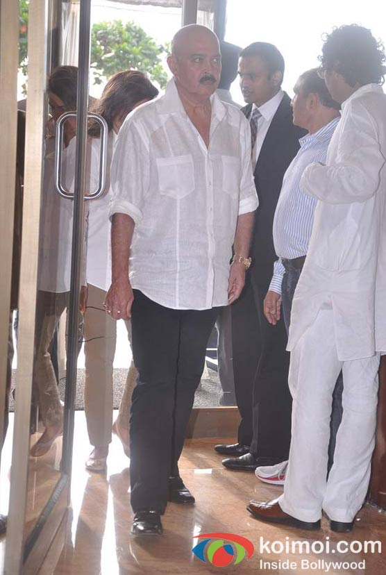 Rakesh Roshan At Rajesh Khanna's Prayer Meet