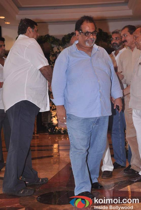 Satish Kaushik At Rajesh Khanna's Prayer Meet