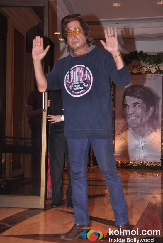 Shakti Kapoor At Rajesh Khanna's Prayer Meet