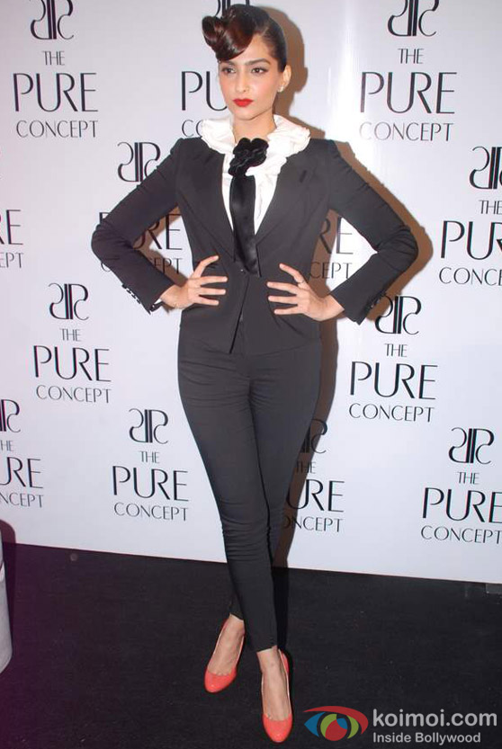Sonam Kapoor at launch of Pure Concept