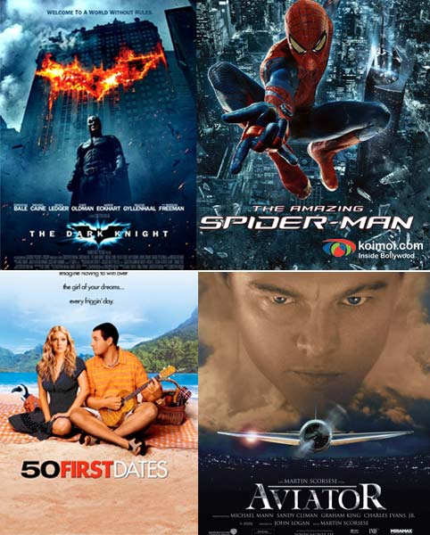 The Dark Knight Rises, The Amazing Spider Man, 50 First Dates, Aviator Movie Poster